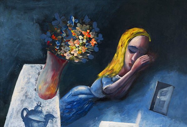 Charles Blackman 'Dreaming Alice 1956' - pigment print on paper