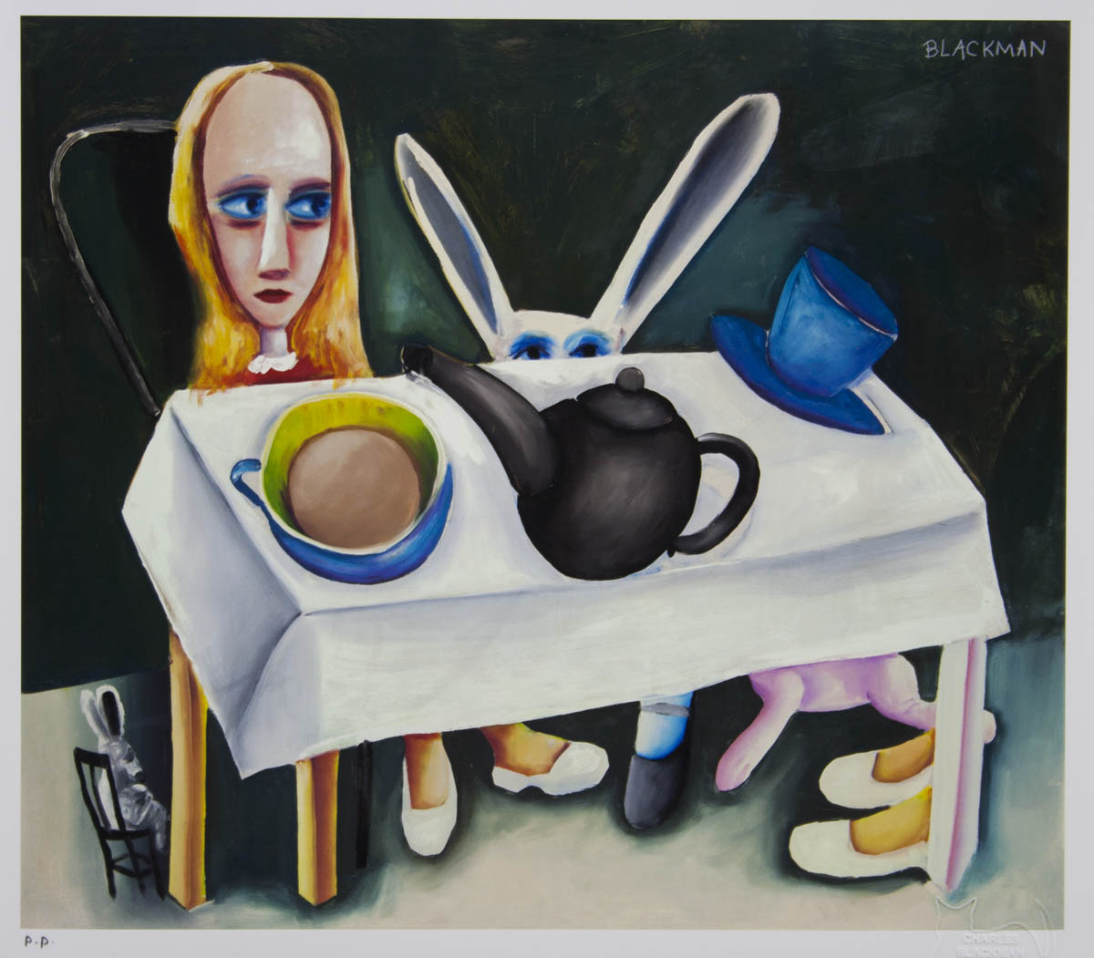 Charles Blackman 'Feet Beneath the Table'