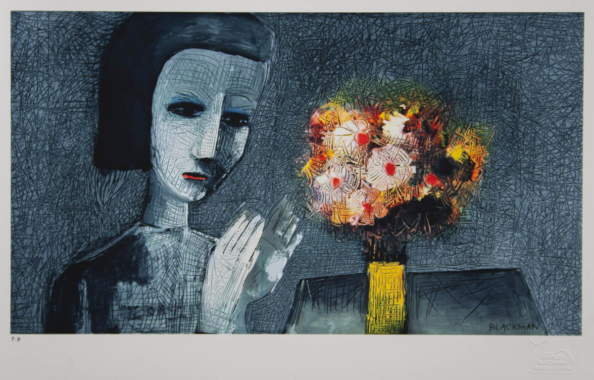 Charles Blackman 'Girl with Flowers'