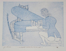 Load image into Gallery viewer, Charles Blackman 'Mozart Playing to His Cat'