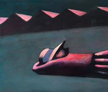 Load image into Gallery viewer, Charles Blackman 'Prone Schoolgirl' - archival pigment print on paper