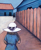 Charles Blackman 'Schoolgirls in Laneway 1953' - pigment print on paper