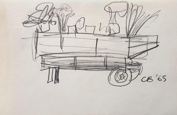 Charles Blackman 'The Flower Cart (Sketch)'