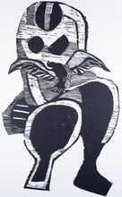 Load image into Gallery viewer, Yvonne Boag 'Bird in Landscape' - woodcut on paper