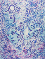 Cassandra Boyd 'Two Blue Faces' - screenprint on paper
