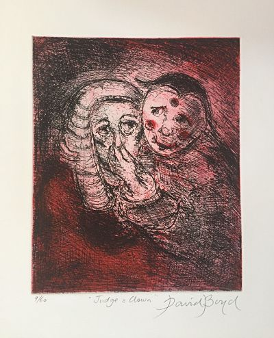 David Boyd 'Judge and Clown (Red)'