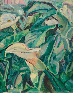 Grace Cossington Smith 'Arums Growing' - flowers reproduction print on paper