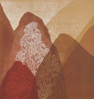 Belinda Fox 'Kailas - Ambitious Mountain  II' - screenprint