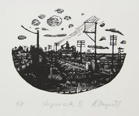 David Frazer 'Shipwreck II' - woodblock engraving on paper