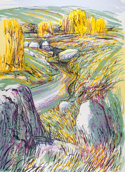 Christopher Gentle 'Landscape with Yellow Rocks'