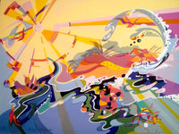 Annie Georgeson 'Coastal Kaleidoscope' - screenprint on paper - PSYCHEDELIC