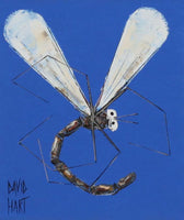 David Hart 'Blue Dragonfly' - oil on card