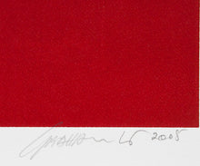 Load image into Gallery viewer, Graham Kuo 'Temple Letters (Two Tone Reds)' - screenprint on paper