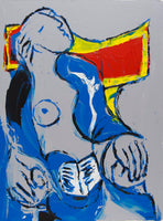 Philippe Le Miere 'After Pablo Picasso la lecture nude' original signed painting