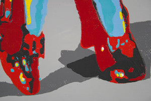 Philippe Le Miere wizard of oz ruby shoes painting art movie unofficial