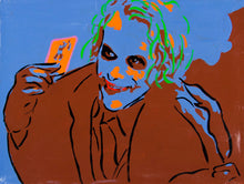 Load image into Gallery viewer, Philippe Le Miere 'Dark Joker Knight Batman movie art painting'