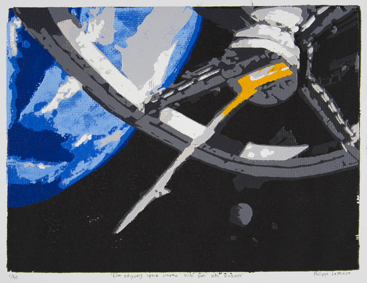 Philippe Le Miere 2001 a space odyssey HAL painting art movie unofficial