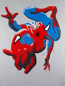 Philippe Le Miere 'Man-spider' - spiderman painting art