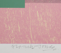 Alun Leach-Jones 'Alchemy (Vivid Pink with Blue Center)' - screenprint on paper