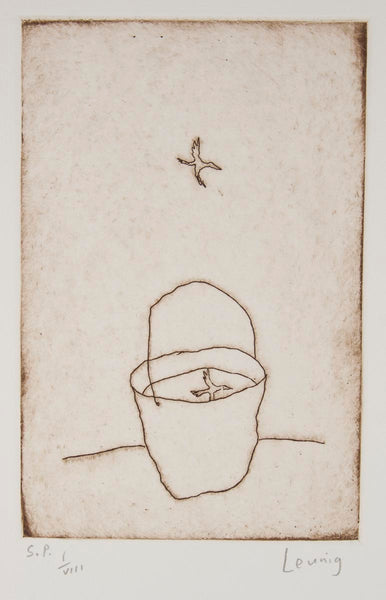 Michael Leunig 'Bird and Bucket'