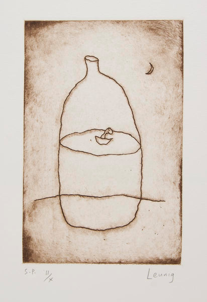 Michael Leunig 'Bottle and Boat'