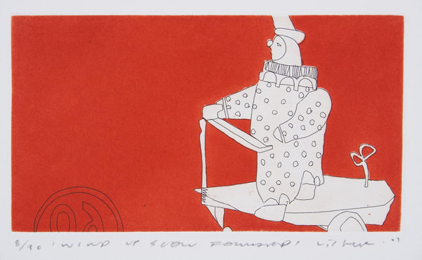 Anthony Lister 'Wind-Up Slow Forward' - Etching on paper