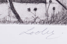 Load image into Gallery viewer, Keith Looby 'Eureka Landscape' - etching on paper