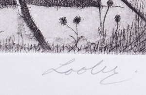 Keith Looby 'Eureka Landscape' - etching on paper