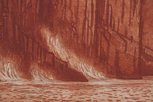 Load image into Gallery viewer, Jeffrey Makin 'Cape Pillar - Rouge' - Etching on paper