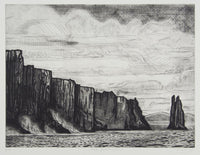 Jeffrey Makin 'Cape Pillar - Noire' - Etching on paper