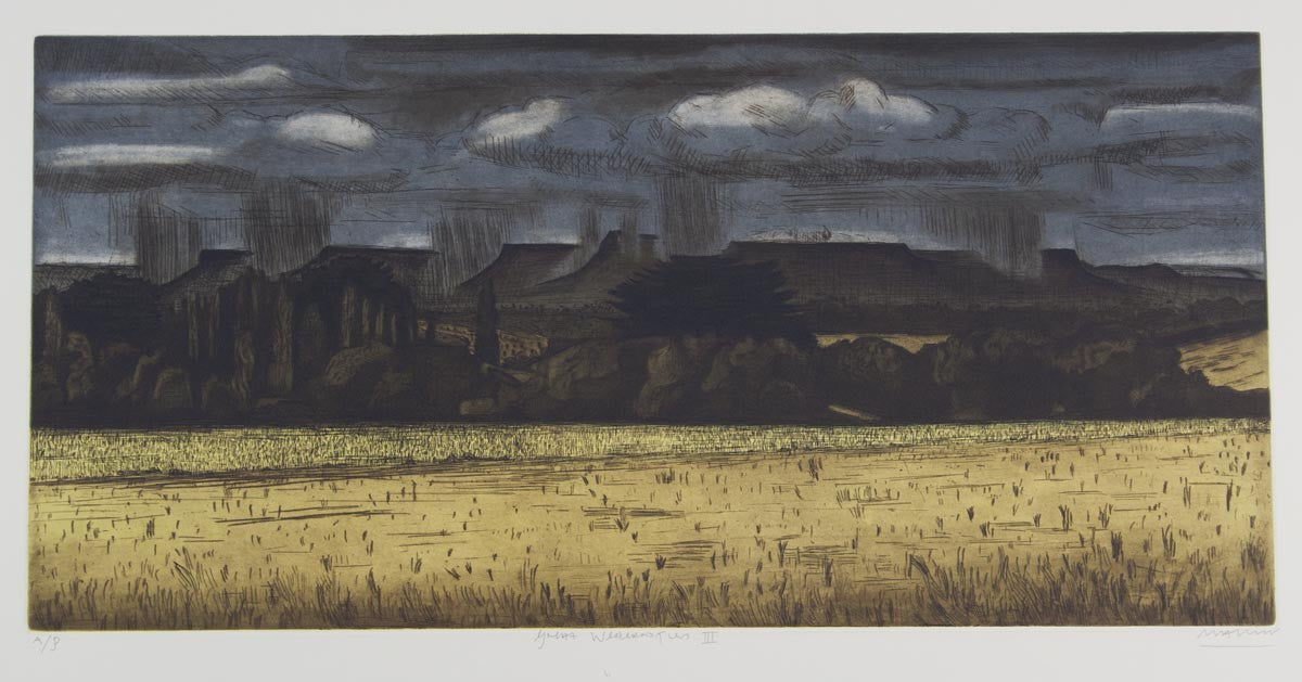 Jeffrey Makin 'Great Western Tiers III' - Etching on paper