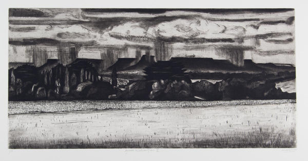Jeffrey Makin 'Great Western Tiers II' - Etching on paper