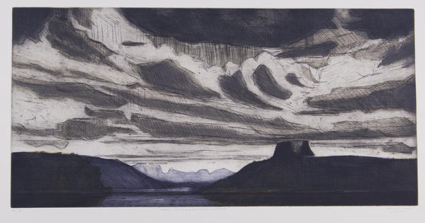 Jeffrey Makin 'Lake St Clair, Tasmania' - Etching on paper