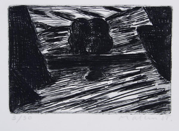Jeffrey Makin 'Lakeside Winter' - Etching on paper