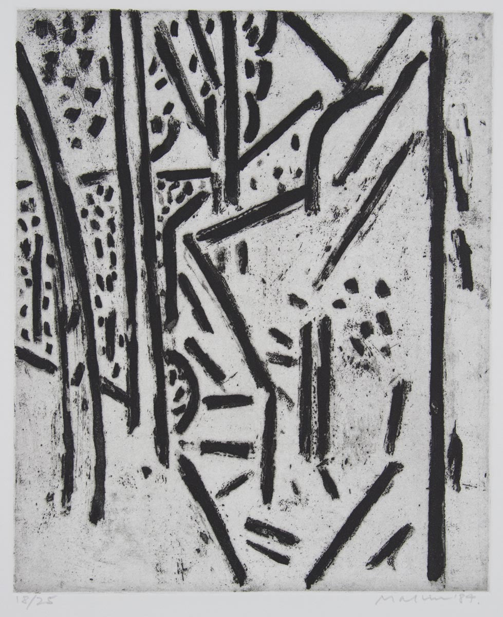Jeffrey Makin 'Pathway Hanging Rock I' - Etching on paper