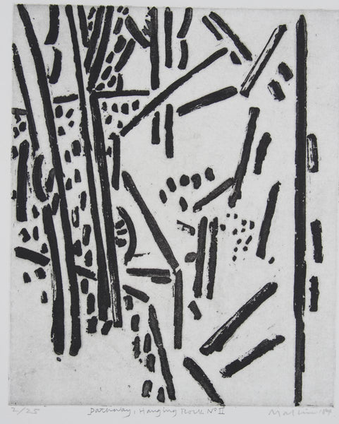Jeffrey Makin 'Pathway Hanging Rock No. II' - Etching on paper