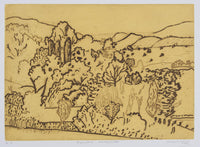 Jeffrey Makin 'Sylvan Landscape' - Etching on paper