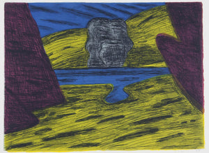 Jeffrey Makin 'Untitled (Abstract Landscape)' - Etching on paper