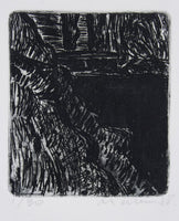 Jeffrey Makin 'Untitled (Black and White Landscape)' - Etching on paper