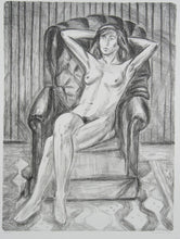 Load image into Gallery viewer, Jeffrey Makin 'Untitled (Nude in Armchair)' - Lithograph on paper