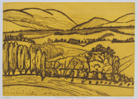 Jeffrey Makin 'Warburton Ranges' - Etching on paper