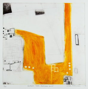 Greg Mallyon 'Villages over Persian Gulf' - Etching
