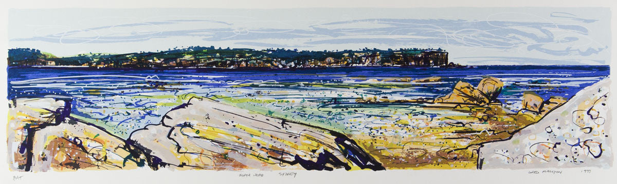 Greg Mallyon 'North Head Sydney' - screenprint on paper