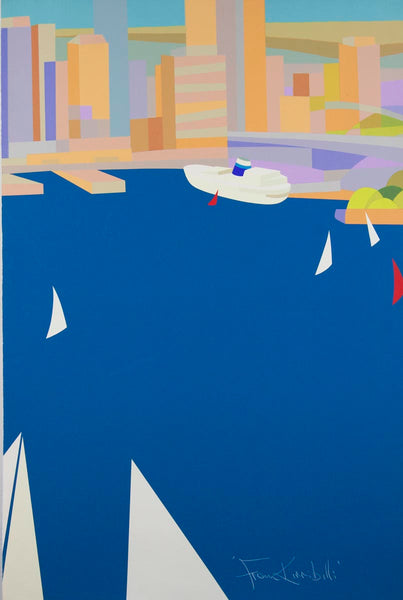Stewart Merrett 'From Kirribilli' - screenprint on paper - diptych