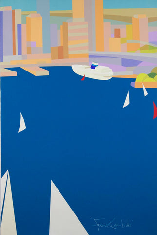 Stewart Merrett 'From Kirribilli' - screenprint on paper