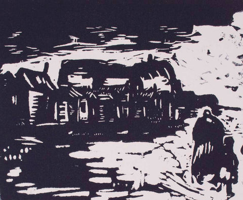 Vic O Connor 'Going Home' - linocut