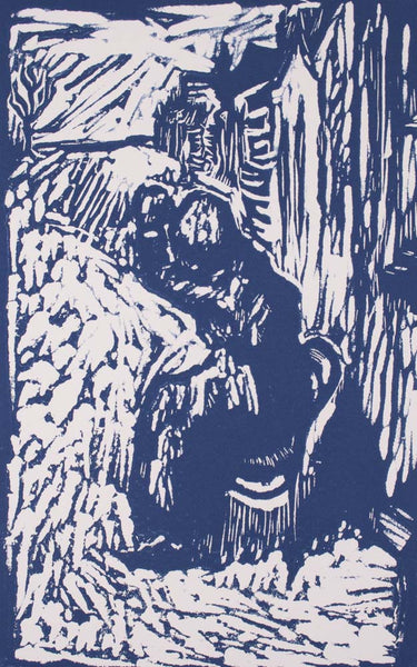 Vic O Connor 'Winter Sunshine' - linocut