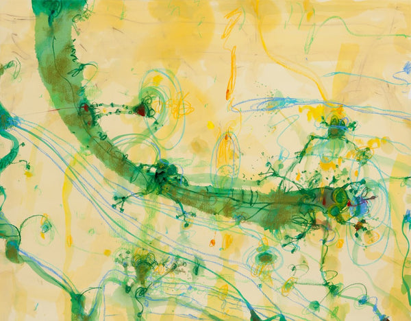John Olsen 'Frogs and Banana Leaf' - pigment print on paper