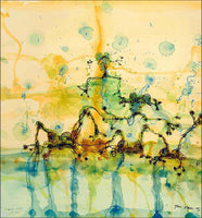 John Olsen 'Morning at the Lily Pond' limited edition archival pigment print hand signed by the artist
