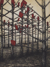 Load image into Gallery viewer, Glenda Orr 'Red Kelly Country' - etching on paper